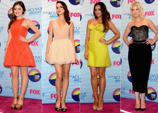 pretty-little-liars-cast-teen-choice-awards-2012-lucy-hale-wes-gordon-dress-shay-mitchell-donna-karan-troian-bellisario-maria-lucia-hohan-ashley-benson-monique-lhuillier